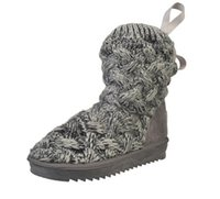 Female Boots Plush Length Snow Shoes Soft Knitting Warm Wint...