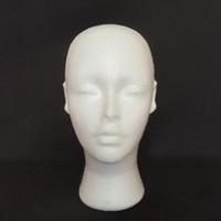 Yeni Varış Peruk Standı 1 ADET Strafor Köpük Manken Kadın Kafa Modeli Kukla Peruk Gözlük Şapka Ekran Standı Peruk Başkanı Standı Güzel