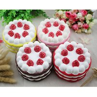 Squishy Slow Rising Strawberry Cake Jumbo Kawaii Phone Strap...
