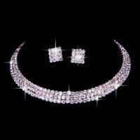 100% das gleiche wie Bild klassische Strass Schmuck Set Hochzeit Braut Halskette und Ohrringe Foto Braut Abend Prom Party Homecoming Zubehör