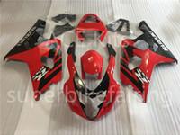 3 개 무료 선물 새로운 스즈키 GSXR600 GSXR750 K4 03 04 K4 2003 2004 사출 ABS 플라스틱 오토바이 페어링 레드 블랙 A13