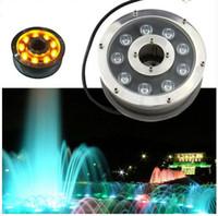 piscina luci led fontana luce Piscina lampada decorativa Illuminazione 6W / 18W / IP68 luci esterne impermeabili 12W AC / DC12-24V