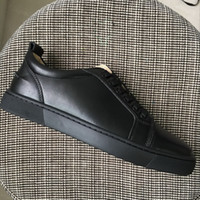 New 2018 mens womens black sheepskin leather lace up low top...