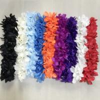Multicolore Hawaiian Hula Leis Festive Party Garland Collier Fleurs Couronnes Soie Artificielle Wisteria Jardin Fleurs Suspendues