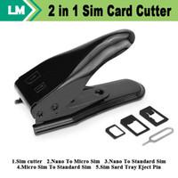Hochwertige Dual 2 in 1 Micro Sim Cutter für iPhone7 5 5S 6 I5 4S Nano SIM-Kartenadapter für Samsung Galaxy Regular Sim kostenlos 30pcs / lot