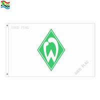 GoodFlag Spedizione gratuita SV Bandiera Werder Bremen bandiera 3X5 FT 90 * 150CM Bandiera esterna Polyster