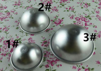 Envío gratis herramienta Baker 3D bola de aleación de aluminio esfera baño bomba molde torta pastelería pastelería molde
