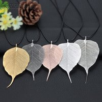 New Arrival 5pcs lot multi styles Plated Natural Bodhi Leave...