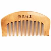 10 cm de saúde pente de madeira anti-estático portátil de maquiagem pequeno pente atacado mês de saúde