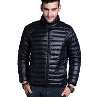 Toptan Satış - Toptan-Kış Yastıklı Jacekt erkek Marka ince Ördek Aşağı Yaka Casual Sıcak Coat Kabanlar Parka Ceketler Artı Boyutu XXXL Aşağı Ceket Erkekler