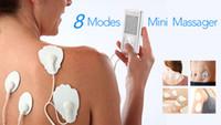근육 자극에 대 한 디지털 전기 만 단위 전신 물리 치료 마사지 4pcs 열 패드 DHL 무료 배송