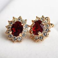 moda europeus retro Rhinestone perfurou brincos mulher geométrica sem dom falso pad ouvido tipo clip clip ouvido