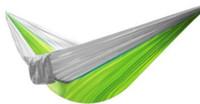Camping singolo amaca 230 da 90 cm tessuti paracadute uscire all'aperto appeso letto altalena colore amaca casuale o misto