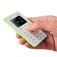 GSM 4.5mm Ultra Mince Poche Mini Téléphone AIEK M5 Carte Cellulaire Bas Rayonnement avec noir, blanc, orange, couleur bleue