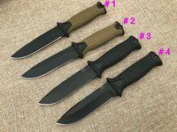 1 Adet TR G1500 Survival Düz bıçak 12C27 Siyah Titanyum Kydex ile Drop Noktası Blade Açık Kamp Yürüyüş Avcılık Taktik Bıçaklar Kaplı