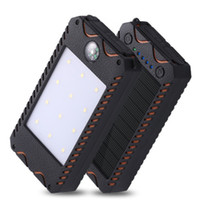 Waterproof compass solar power bank 20000mah universal batte...