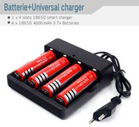 EU US Plug led Flashlight torch Multifunctional Battery Char...