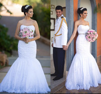 White Mermaid Wedding Dresses Sweetheart Off the Shoulder Gorgeous Bridal Dresses Lace Country Wedding Gowns vestido de noiva renda