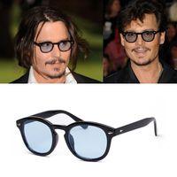 Toptan-2016 Yeni moda Güneş bağbozumu Rivets Gözlükler Süper Star Johnny Depp kadın erkek Lasses Retro gafas