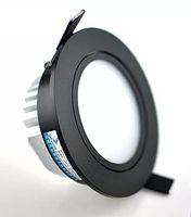 Siyah Kabuk 9 W / 10 W / 12 W LED Aşağı Işık COB Dim LED Gömme Tavan Downlight Lamba Ev Aydınlatma Için Süslemeleri AC110V 220 V LLFA
