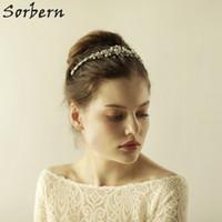 Sorbern cristal transparente tocado nupcial tiaras diadema novia guirnalda de la boda tocado de la flor noble pelo adorno joyería pelo banda