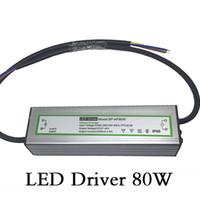 Driver LED 80W Trasformatori per illuminazione Impermeabile Tensione di ingresso AC85-265V Uscita DC27-40V Corrente costante Alimentazione LED 2400mA Alluminio