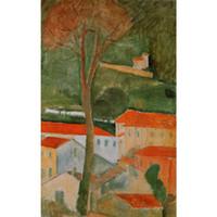 Sanat Hediye yağlıboya Amedeo Modigliani tarafından Peyzaj El boyalı soyut sanat Yüksek kaliteli