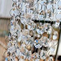 2017 novo Partido Decoração Octogonal frisado cristal claro guirlanda vertentes para decoração de casamento lustre Frete Grátis