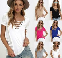 2017 New Fashion Sexy Summer Women V Neck Short Sleeve Solid...