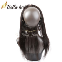 360 Кружева Группа Фронтальная Затворы Grade 8А Бразильский Девы волос шелковистые прямые 360 Lace Лобовой 13 * 2 Белла волос Бесплатная доставка