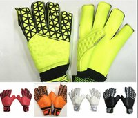 Mens soccer gloves finger protection Latex Professional goal...