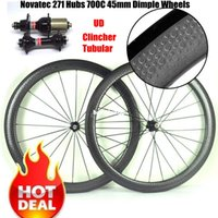 Novatec 271 Hubs Road Bike Golf Surface Dimpled 700C Clinche...