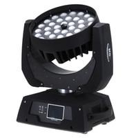 Çin RGBWA UV 6 in 1 Zoom 36 * 18 W DMX LED Hareketli Kafa Yıkama Işığı Sahne KTV Bar Için