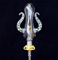 Versione 5.0 Set da collezione Nettare Set Octopus Design 14mm Accessori per fumare con un chiodo in titanio Mini tubi dell'acqua di vetro Bong