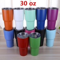 50pcs DHL 18 Colors Stainless Steel Bilayer Insulation Cups ...