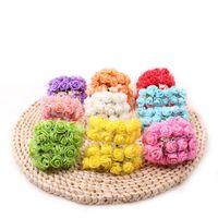 Venda por atacado- 144 Pçs / lote Dia 2 cm Rosas De Espuma Artificial Para Casa E Decoração de Casamento Cabeças de Flor Beijando Bolas Para Casamentos Multi Color