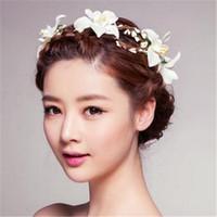 여성을위한 핑크 베일 머리 장식 신부 들러리 헤어 액세서리와 새로운 패션 웨딩 신부의 티아라 꽃 화환