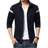New Fashion Jacket Men Cotton Casual Jacket Men Trend Patchw...