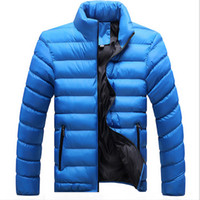 Vente en gros-2016 Hiver Veste Hommes New Down Coton Mélange Mâle Mens Vestes D'hiver Camperas Hombre Et Manteaux Jaqueta Masculina Casaco Inverno