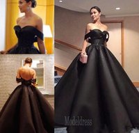 2017 Black Saudi Arabia Formal Evening Dresses Sweetheart Be...