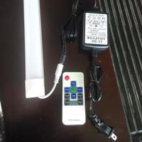 T8 tubos de LED RGB 4 pés 3 pés dois pés Integrado G13 DC24V AC100-240V 9W-18WColor Luz Adaptador RF Controle Remoto Lâmpadas Lâmpadas direto China Factory