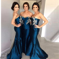 2017 New Arrival Simple Navy Blue Bridesmaid Dresses Sweethe...