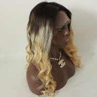 Beautiful Fashion Ombre Color Wig 1B 613 Glueless Lace Front...