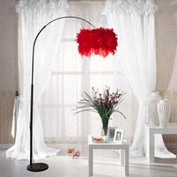 큰 깃털 로비 플로어 램프 라이트 거실 Ajustable 소파 독서 가벼운 침대 옆 침실 깃털 서있는 바닥 빛 램프