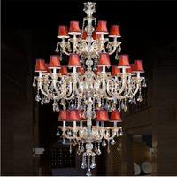 Temizle K9 kristal cilalar de cristal avize lamba oturma odası mutfak candelabro için Modern otel salonu kristal avizeler işık fikstür