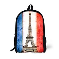 Stylish Customize Backpacks Paris Eiffel Tower Printing bags...