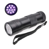 400NM Ultra Violet UV Light Mini Portable 12 LED UV Flashlig...