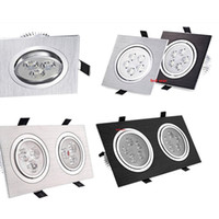 dimmable 6w 10w 12w 24w led recessed ceiling downlights doub...