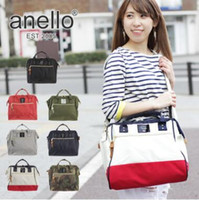 7 Colori apen Anello Large Unisex 2-Way Cross Body Shoulder Messenger Borsa Tote Borsa Borsa Campus School Bag CCA6637 10 pz