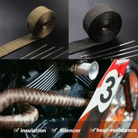 "RASTP -Heat scarico Thermo Turbo Tape Wrap 2"" X 5M / 10m Fireproof panno rotolo nero 1022C auto isolamento RS-CR1007"